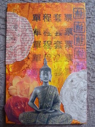 Mini tableau Bouddha - 2 | Patouille et scrapbooking | Scoop.it