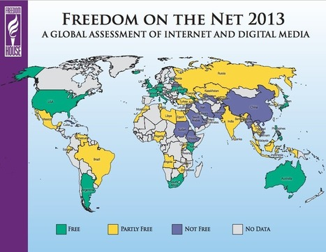 The state of Internet freedom worldwide, in 1 map | Wash Post Blog | Surfing the Broadband Bit Stream | Scoop.it