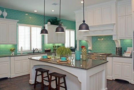 Stylish interior with turquoise accents by Highland Homes | Designing Interiors | Scoop.it