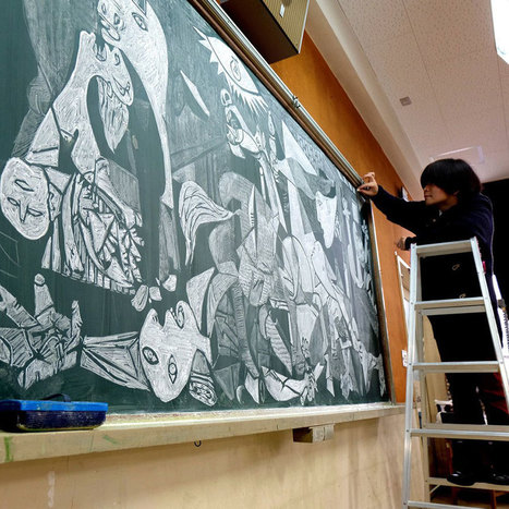 #Japanese #Teacher Surprises His Students With His Stunning #Chalkboard #Art | Luby Art | Scoop.it