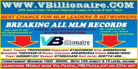 Gets Free MLM Leaders Contact Number | MLM Directory | MLM Software | MLM Business | MLM Companies | MLM News | MLM Database | MLM Diary | Scoop.it