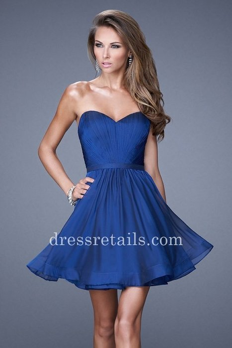 Cheap short strapless marine blue chiffon homecoming dresses by La Femme 20271 [La Femme 20721] - $145.00 : Prom Dresses | Dresses From dressretails.com | Dresses for girls | Scoop.it