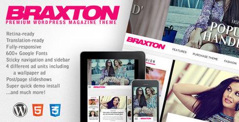Braxton - Premium Wordpress Magazine Theme Download | web design | Scoop.it