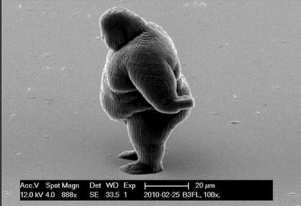 Matt Uebel - Google+ - An electron microscope photograph shows a human figure… | The Robot Times | Scoop.it