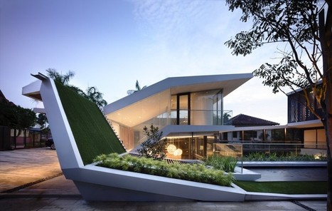 Spectacular Geometry Displayed by Andrew Road House in Singapore | Breathtaking Architecture | Scoop.it