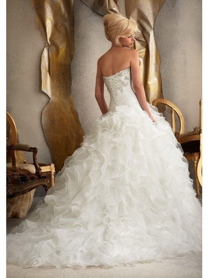 A-Line Ball Gown Strapless Sweetheart Chiffon Wedding Dress | Wedding Dresses | Scoop.it