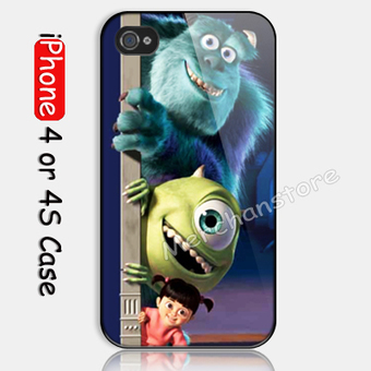 Monster Inc Disney Animation Custom iPhone 4 or 4S Case | Merchanstore - Accessories on ArtFire | Custom iPhone 4 or 4S Case Cover | Scoop.it