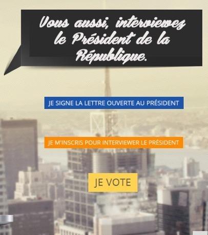 Un site propose à des jeunes de gagner une interview de François Hollande | Campagnes et e-publicité | Scoop.it