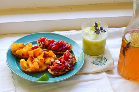 Summer Entertaining: Citrus Peach & Balsamic Tomato Bruschettas | Healthy Whole Foods | Scoop.it