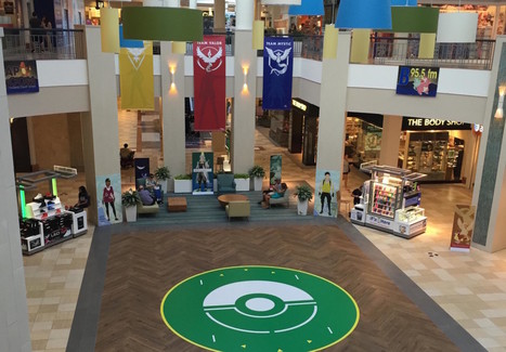 Mall embraces Pokémon Go, turns its lobby into a battle arena | Retailtainment | Scoop.it