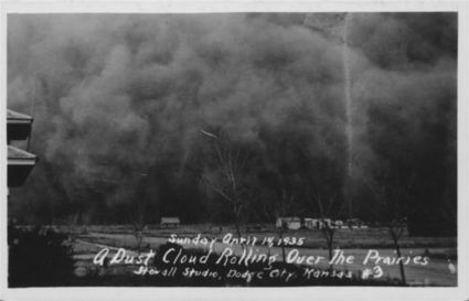 A Dust Cloud Rolling Over the Prairies (near Hugoton, Kansas) - Kansas Memory Primary Doc #3 | the dust bowl during the 1930's | Scoop.it