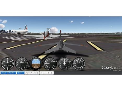Un simulateur de vol en ligne basé sur Google Maps   Time to Learn   Scoop.it