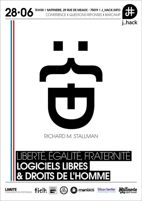 "#JHack spécial ""Richard Stallman"" à la Mutinerie le 28 juin | Silicon Maniacs | Radio Hacktive (Fr-Es-En) | Scoop.it"