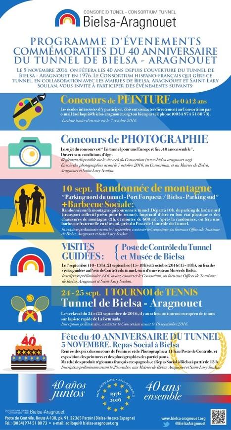 Randonnée et paëlla gratuite le 10 septembre pour fêter le 40e Anniversaire du Tunnel de Bielsa – Aragnouet  | Vallée d'Aure - Pyrénées | Scoop.it