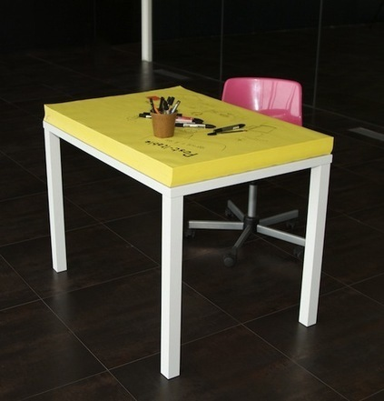 For Designers To Constantly Doodle, A Giant Post-it Note Desk - DesignTAXI.com | That's Krafty | Scoop.it