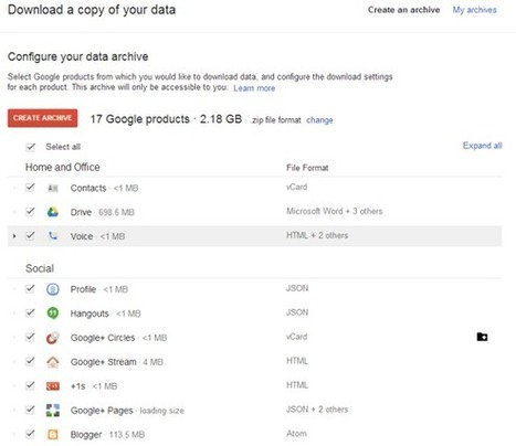 Google Operating System: Google Takeout's New Interface | The Google+ Project | Scoop.it