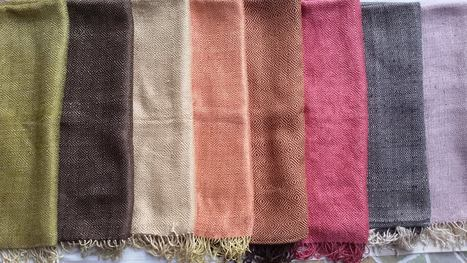 fair trade Cambodia. Golden Silk shawl scarfs, ethically handmade by disadvantaged weavers in the community. www.craftworkscambodia.com | Natural Dyes Cotton Scarfs | Scoop.it