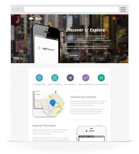 Appify - iPhone/Android App WordPress Theme | WordPress Themes | Scoop.it