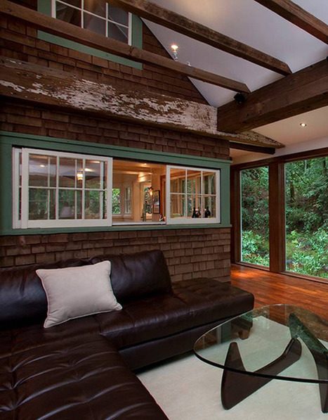 Charming Creekside Cabin with Rustic-Refined Aesthetic | Modern House Designs | Idées d'Architecture | Scoop.it