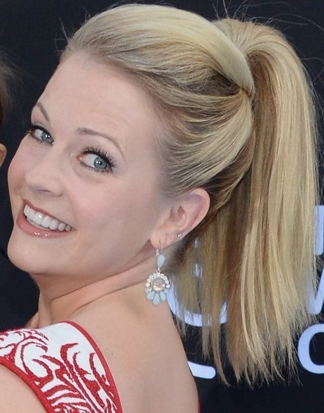 Melissa Joan Hart Dons Straight Ponytail With Puff | Celebrity Hairstyle | Scoop.it