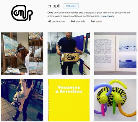 le Centre national des arts plastiques - CNAP lance son compte Instagram !  | Clic France | Scoop.it