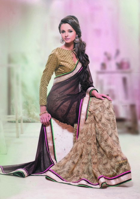 Bollywood Branded Sarees Wedding Fancy Partywear Lengha saree | Women's Fashion & Jewellery Shopping | Scoop.it