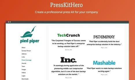 PressKitHero. Créer un dossier de presse en ligne facilement - Les Outils du Web | Les outils du Web 2.0 | Scoop.it