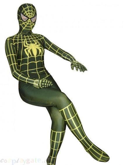 Yellow Stripe Black Spider Lycra Spandex Zentai Suits free shipping - wholesale Lycra Spandex Zentai Suits - wholesale Catsuits & Zentai - CosplayGate.Com | spiderman costume,spiderman costumes | Scoop.it