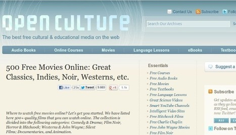 Open Culture ofrece una gran variedad de libros y películas gratis | E-Learning, Formación, Aprendizaje y Gestión del Conocimiento con TIC en pequeñas dosis. | Scoop.it