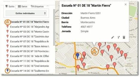 Tutorial: crear mapas en Google maps a partir de una lista de direcciones | Educación 2.0 | Scoop.it