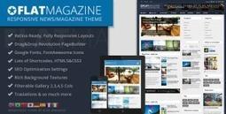 FlatMagazine - Responsive News/Magazine Theme   All Free Stuff   Scoop.it
