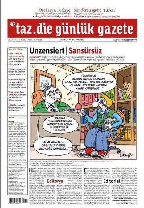 Un journal allemand se met au turc pour dénoncer la censure du régime d'Erdogan | DocPresseESJ | Scoop.it
