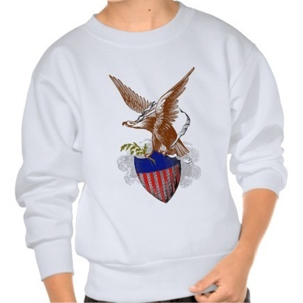 Vintage colorful patriotic eagle on a shield | Unique and Customizable Gifts | Scoop.it