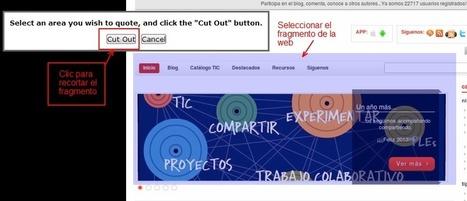 Cómo hacer capturas de pantalla seleccionadas y compartirlas online | Nuevas tecnologías aplicadas a la educación | Educa con TIC | Educacion, ecologia y TIC | Scoop.it