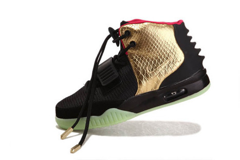 Air Yeezy II 2 Glow In The Dark Black/Gold/Red New Release | my want collection | Scoop.it