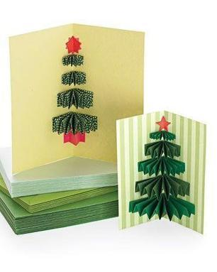 3D Christmas Tree Cards | Craftspo | Scoop.it