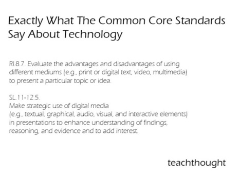 Exactly What The Common Core Standards Say About Technology | On Common Core | Scoop.it