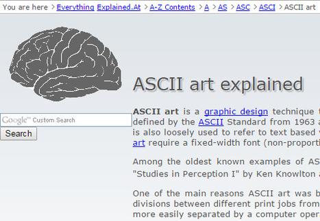 ASCII art explained | ASCII Art | Scoop.it