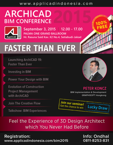 ArchiCAD BIM Conference 2015 | AppliCAD Indonesia. | AppliCAD Indonesia | Scoop.it