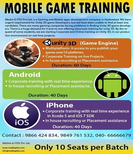 MOBILE GAMES, MOBILE APPS AND WEB DEVELOPMENT COMPANY | unity 3d corporate and online training | Scoop.it
