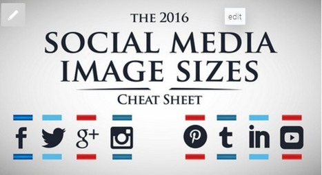 2016 Social Media Image Sizes Cheat Sheet | Occupy Your Voice! Mulit-Media News and Net Neutrality Too | Scoop.it