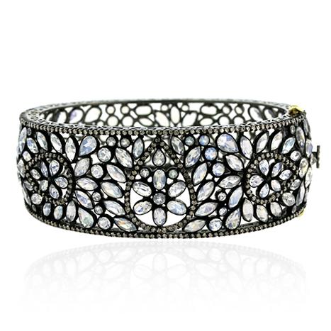 Blue Sapphire 14k Gold Victorian Ring | Diamond Jewelry | GemcoDesigns | Pave Diamond Bangle | Diamond Jewelry | GemcoDesigns | Scoop.it