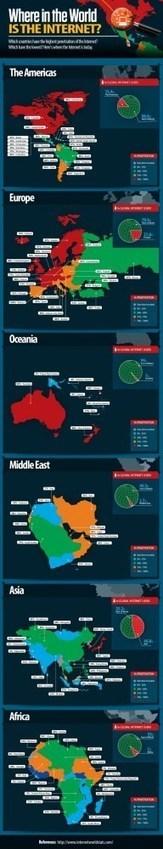 Penetración de Internet por países #infografia #infographic | Educación a Distancia y TIC | Scoop.it