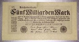 Weimar Germany 5 billion Mark note ~ Fünf milliarden Mark | kitnewtonium | Scoop.it