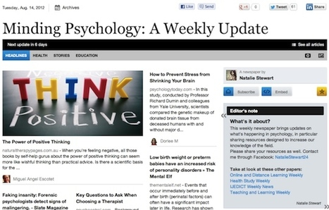 Aug 14 - Minding Psychology: A Weekly Update | Business Futures | Scoop.it