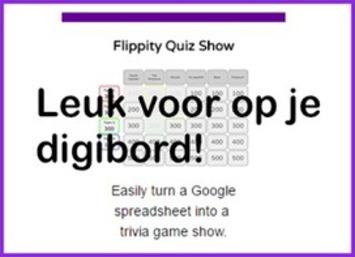 Met de 'Flippity Quiz Show' maak je een quiz met een 'Google Spreadsheet' voor op je digibord | Edu-Curator | Scoop.it