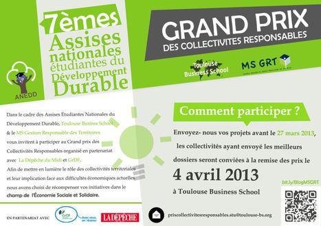 2ème édition du Grand Prix des Collectivités Responsables - ESC Toulouse | Mastère Gestion Responsable des Territoires | Scoop.it