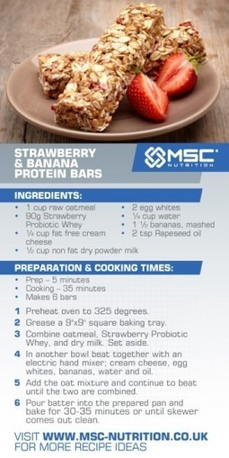 Strawberry and banana protein bars - MSC Nutrition | Healthy Easter Treats | Scoop.it