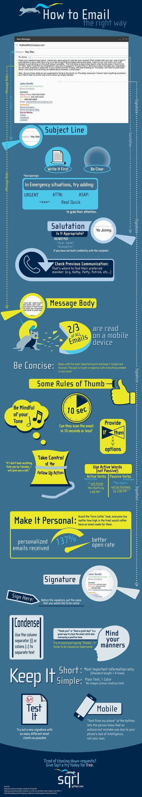 Doing Email Right #infographic | email | Scoop.it