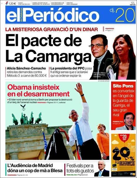 Portades de la Premsa Catalana d'Avui - Dijous 20.06.13   AC Affairs   Scoop.it